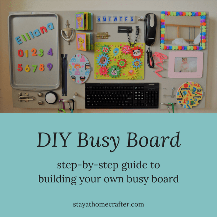 DIY Busy Board: A step-by-step guide to build your own busy board. Perfect for babies & toddlers to learn and explore!