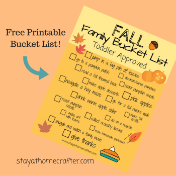 Fall Family Bucket List. Get started making family memories today!