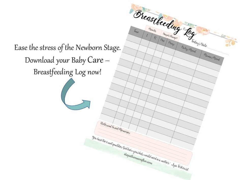 Breastfeeding Log Printable