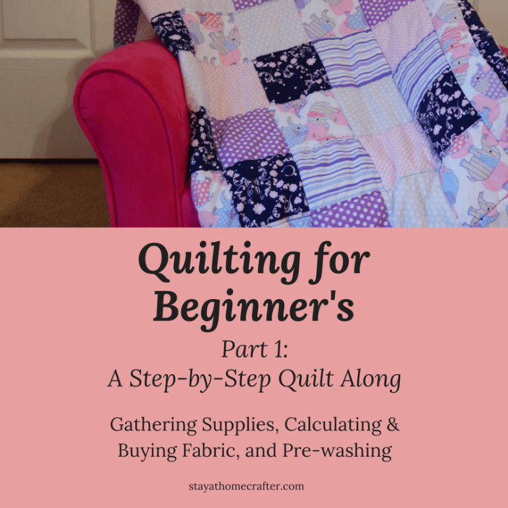 Step by Step Guide to Sewing your own Baby Quilt for even the most inexperience beginner sewers. Follow along week by week to create your own beautiful baby quilt from start to finish!