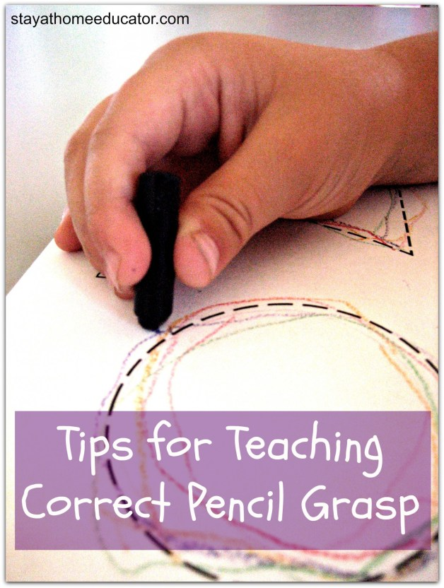 Peek at the Week - Tips for Teaching Correct Pencil Grasp by the Stayathomeeducator.com | @bisforbookworm
