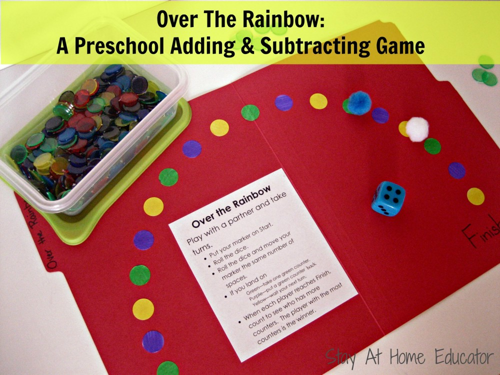 Over The Rainbow  A Preschool Adding And Subtracting Game Over The Rainbow A Preschool Adding and Subtraction Game   Stay At Home  Educator