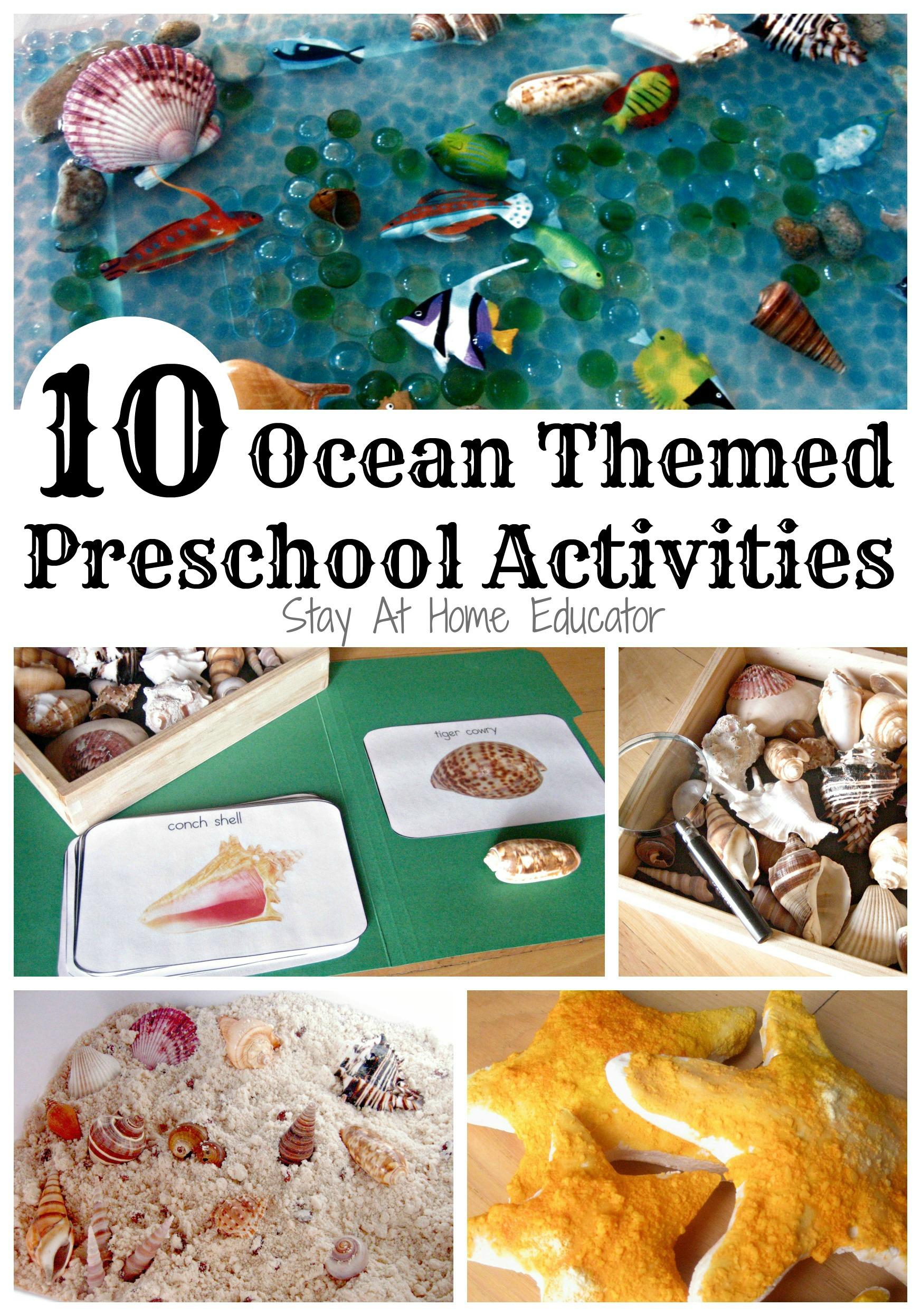 Ocean Themed Preschool Activities
