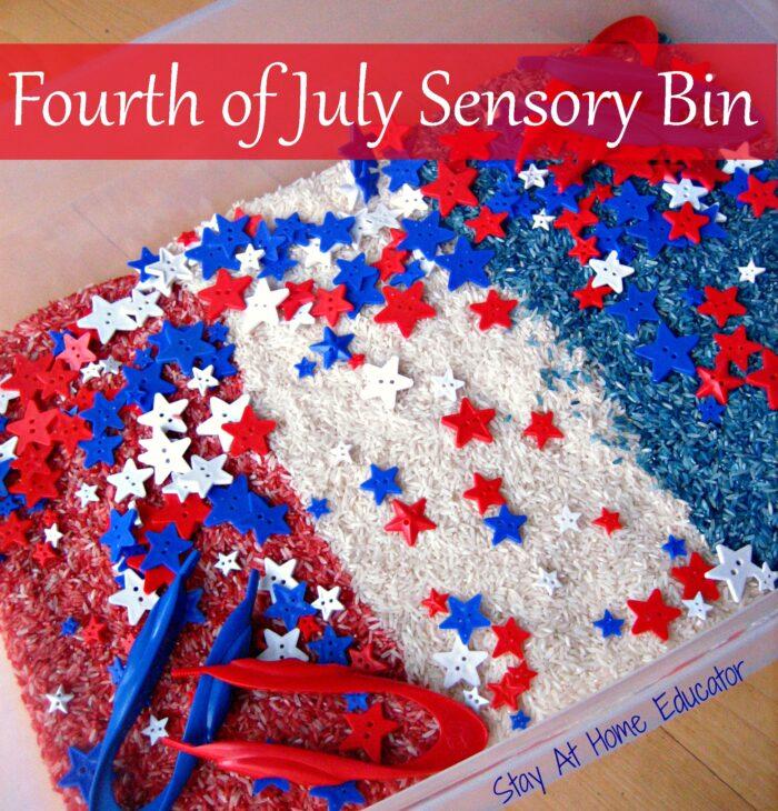 Fourth Of July Sensory Bin