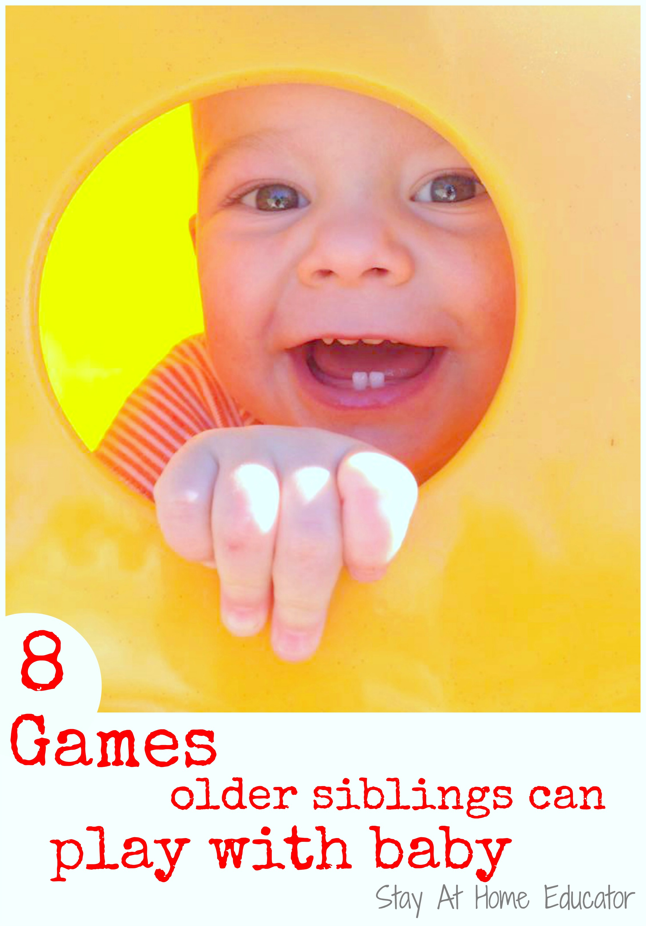 Eight Games Older Siblings Can Play With Baby