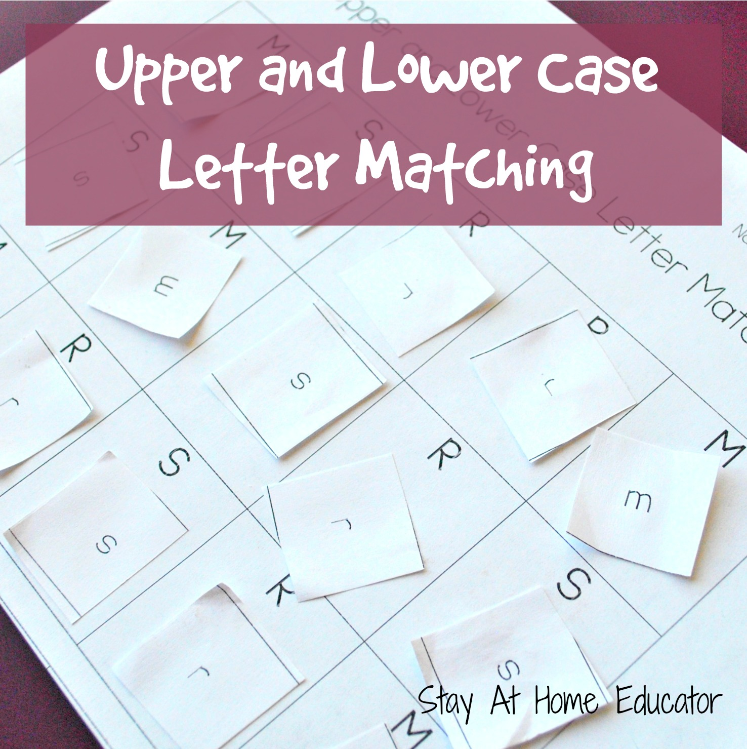 Upper And Lower Case Letter Matching