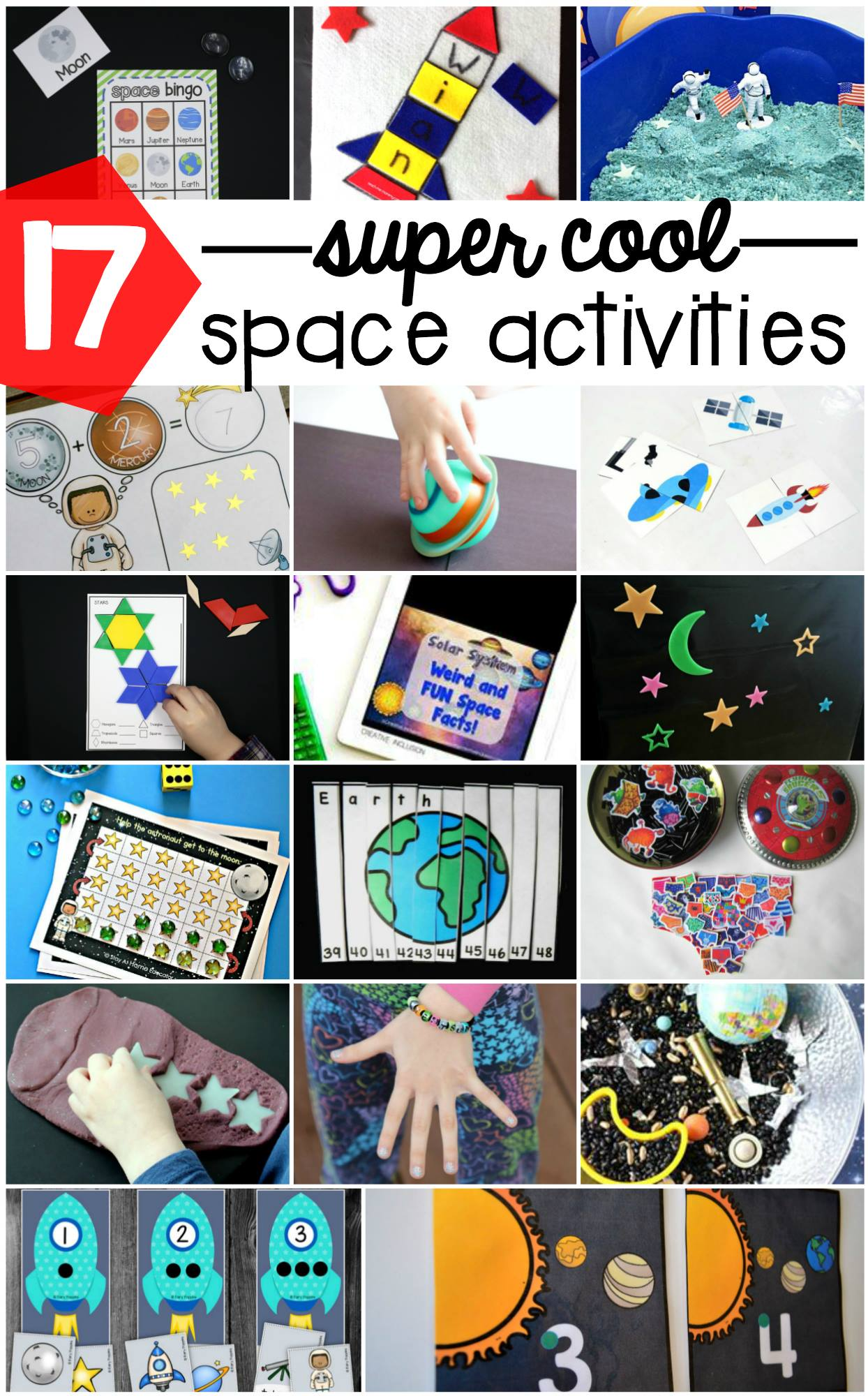 Space Theme Grid Games For Preschoolers