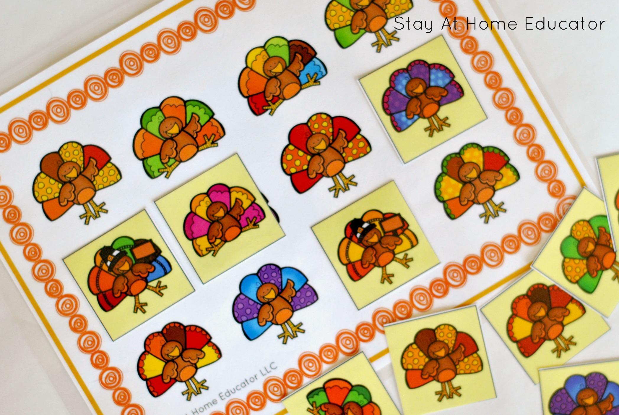 Turkey Activity Pack For Preschoolers