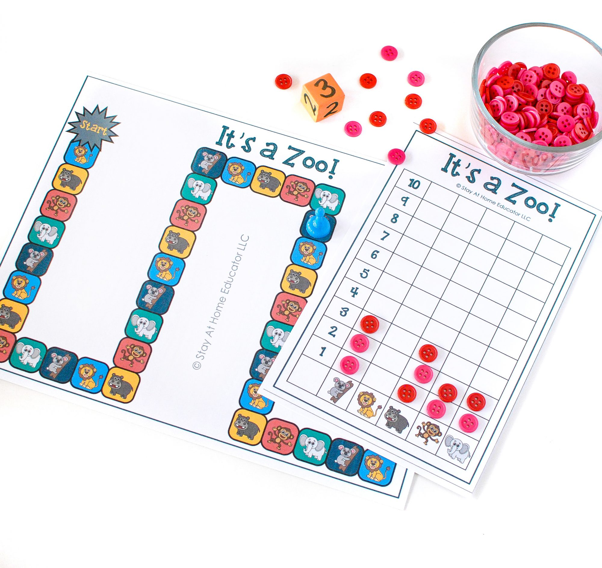 It S A Zoo A Counting And Graphing Game For Preschoolers