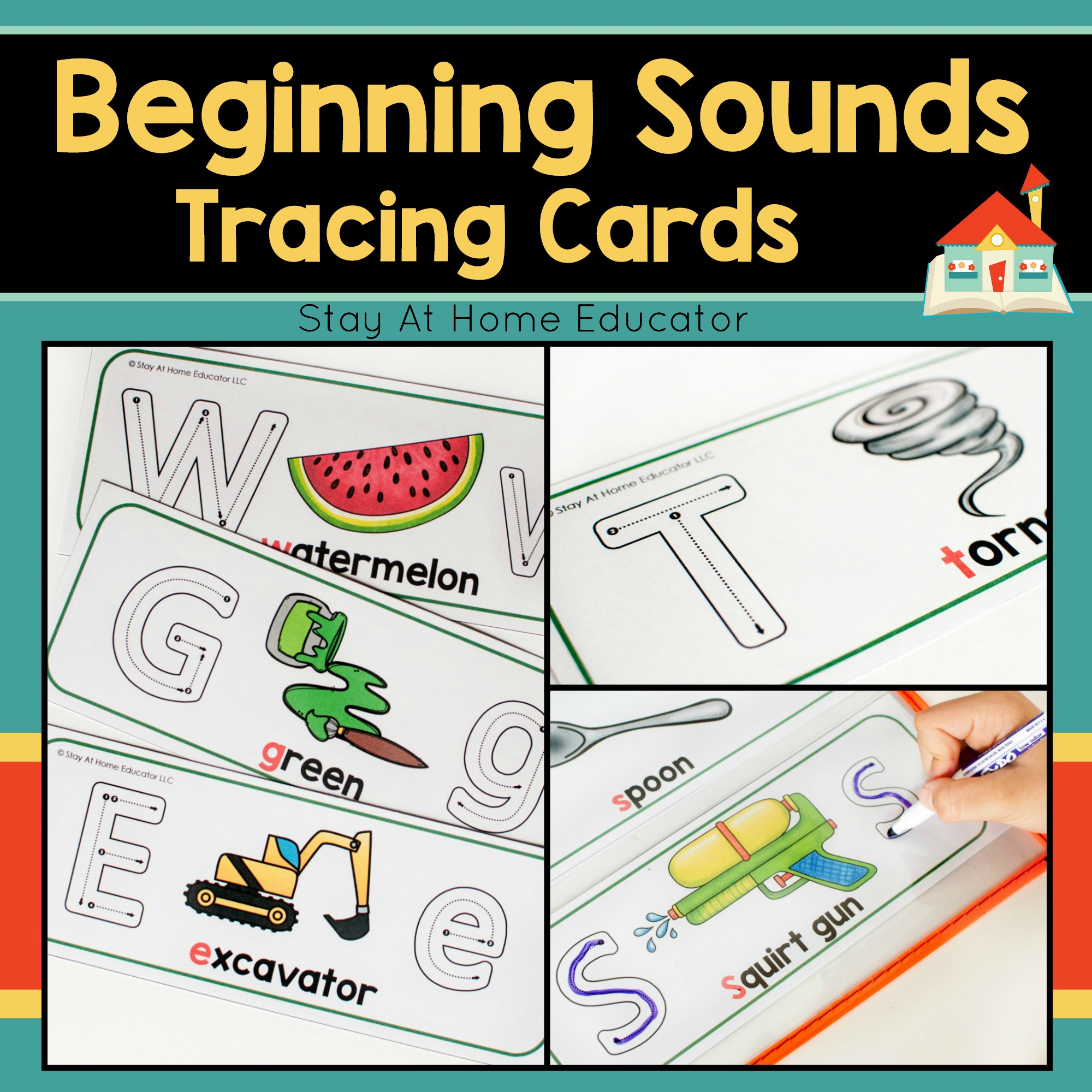 Beginning Sounds Tracing Cards