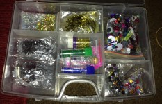 The evil glitter box. Have learnt the hard way to keep things in small bags.