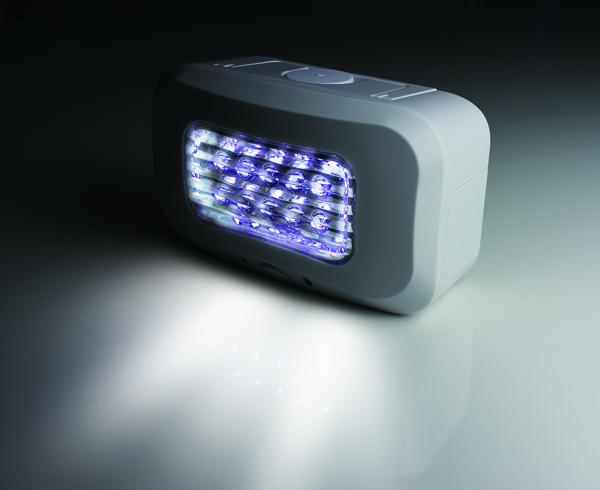 塩水LEDライト点灯