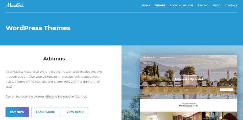Maestrel Vacation Rental WordPress Theme