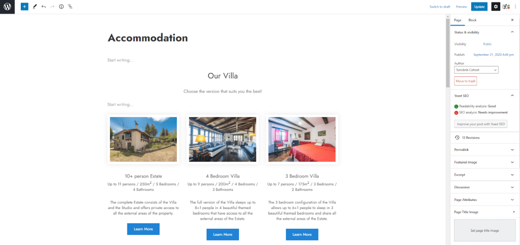 Setting Up Short-Term Rental Website Properties