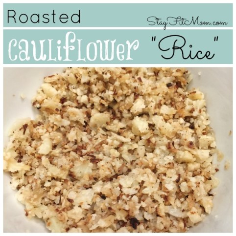 Cauliflower Rice made easy in the oven! The best tasting cauliflower rice!