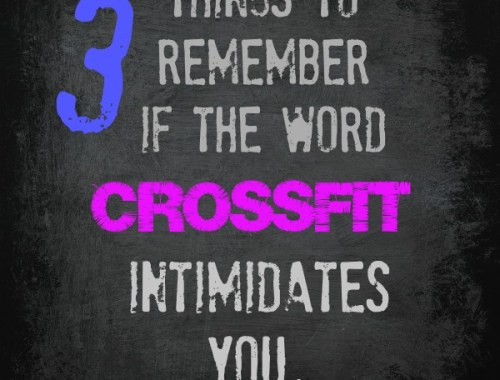 I think I might try CrossFit!