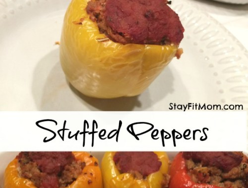 Ground Turkey and Cauliflower Rice Stuffed Peppers -Whole 30 Compliant
