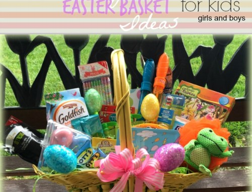 Non Candy Kids Easter Basket Ideas for girls and boys. Lots of cute ideas on here.