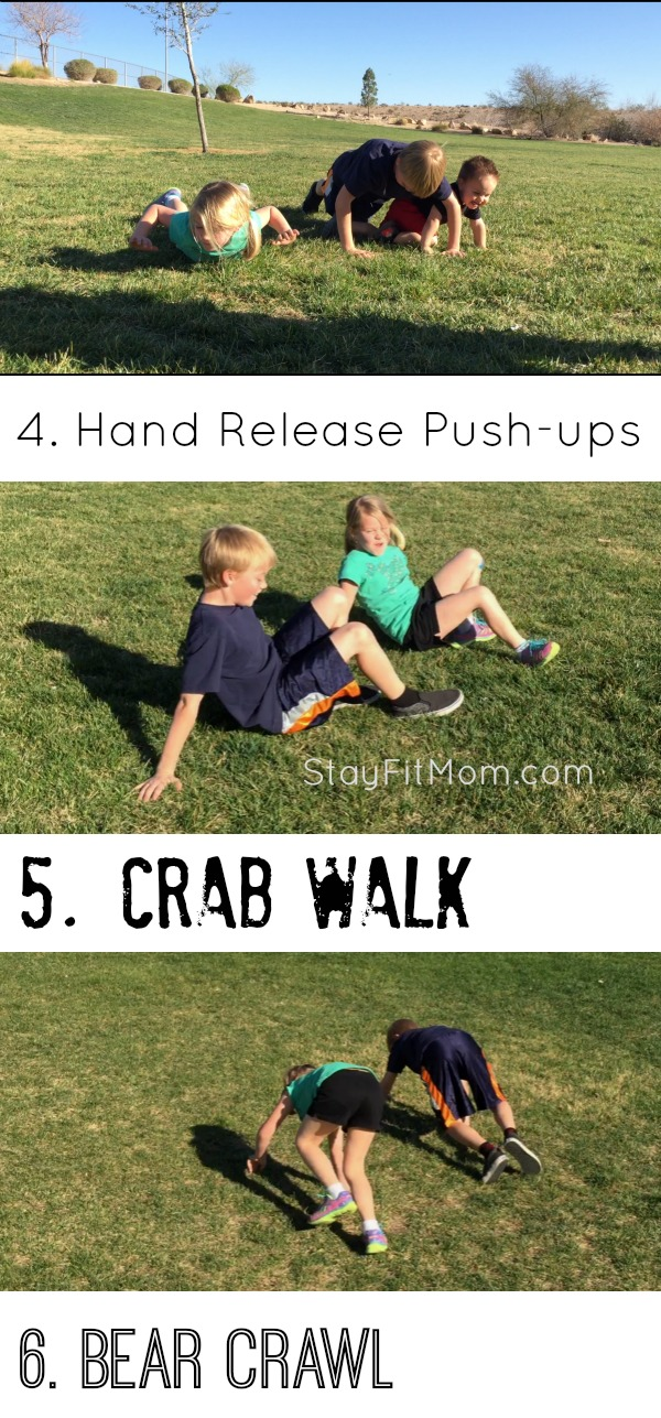 I should have my kids do these exercises to burn up some energy!