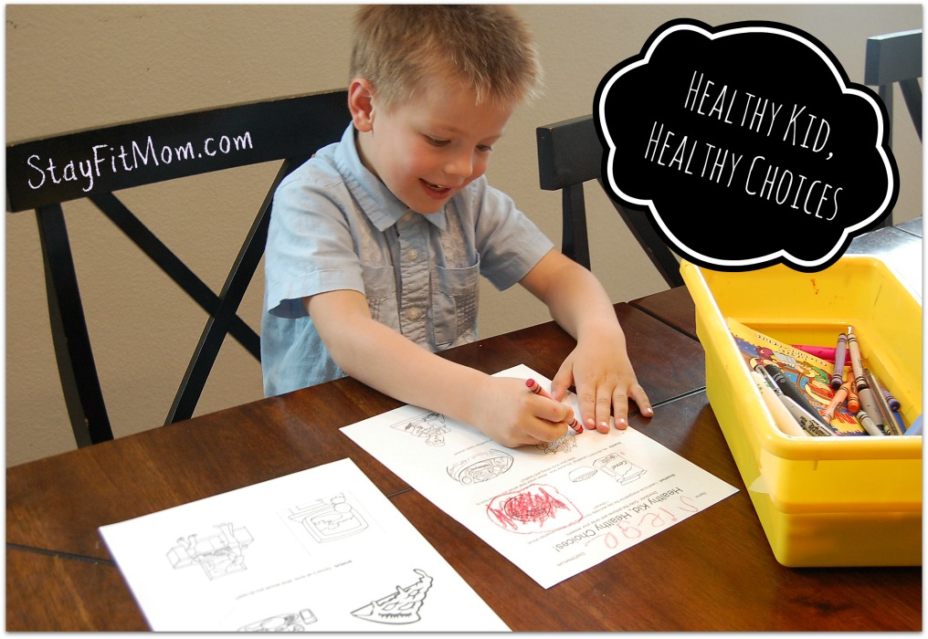 "My kid loved playing the Healthy Kid, Healthy choices ""game"". Love this free worksheet printable from Stayfitmom.com"