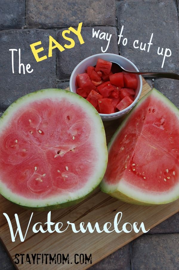 The EASY way to cut up watermelon!  How come I haven't done this all along?