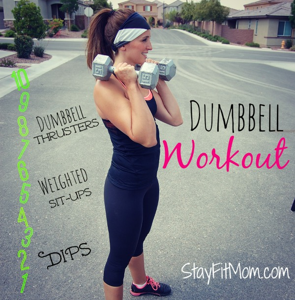 Love this dumbbell workout from stayfitmom.com