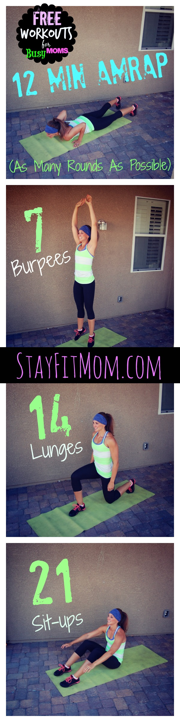This is at home workout from stayfitmom.com will get your heart rate up and will leave you burning fat all day long.