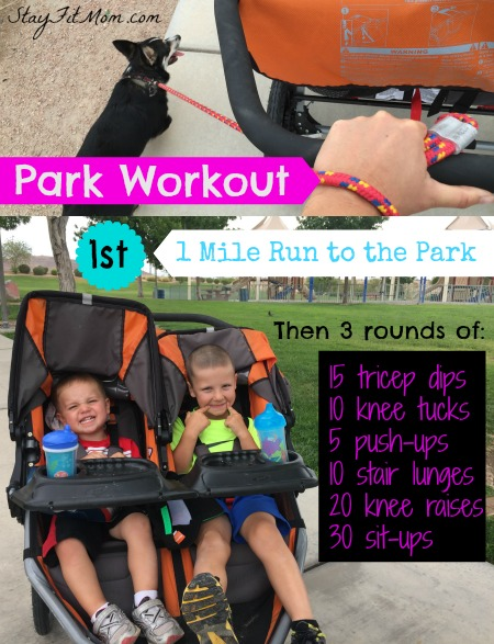 I love these weekly workouts I can do with my kids around!
