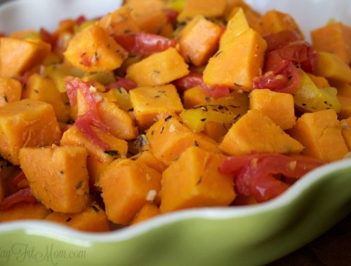 Simple, healthy way to dress up some sweet potatoes!