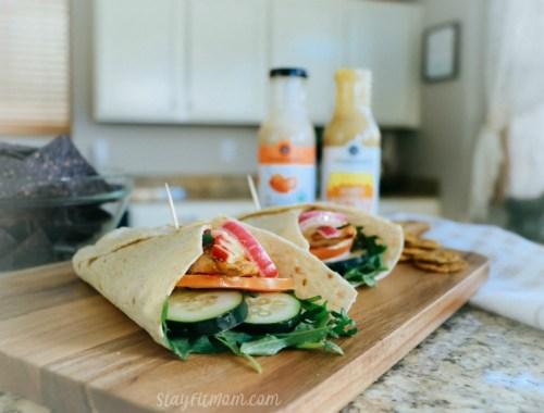 Macro friendly, high protein chicken wraps. #stayfitmom #macrodiet #macrofriendly #healthyrecipe
