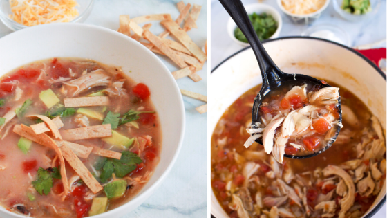 Super easy macro-friendly soup recipe. Packed with protein! #stayfitmom