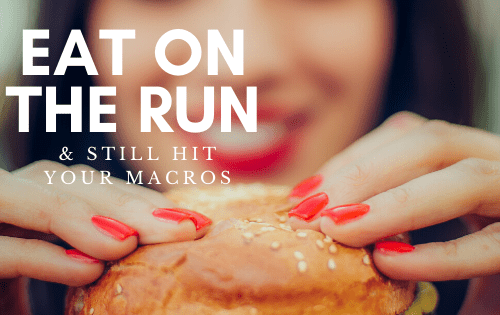 How to hit your macros eating fast food. #stayfitmom #macro #macrodiet #healthyfastfood