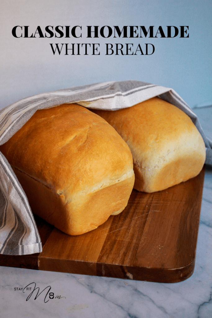 Step by step instructions for classic homemade bread #stayfitmom #breadrecipe #bread #whitebread