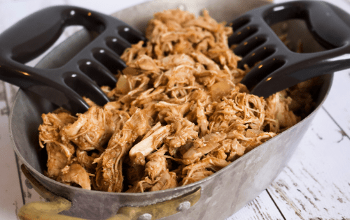 easy slow cooker bbq chicken #stayfitmom #chickenrecipe #crockpot #slowcookerrecipe