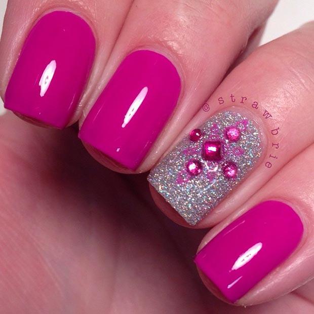 Glitter Grant Purple Nails By Sonailicious
