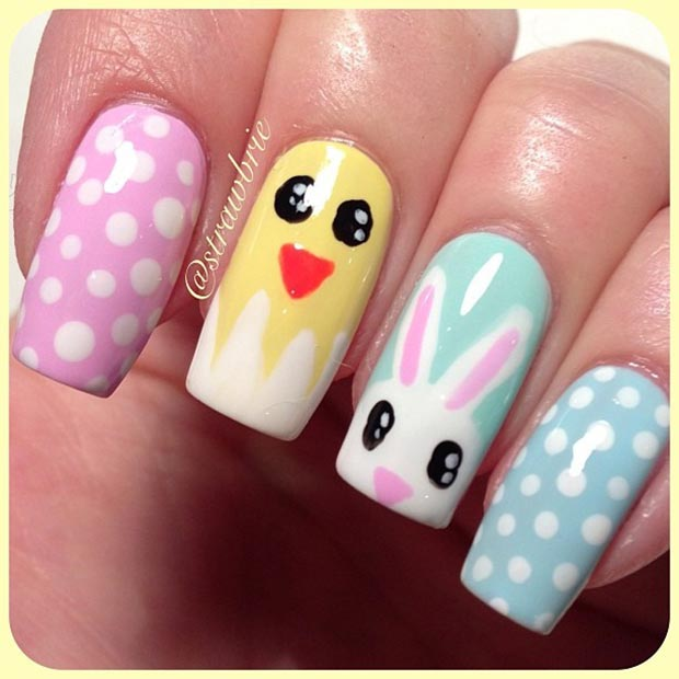 Easter Nail Design For Long Nails