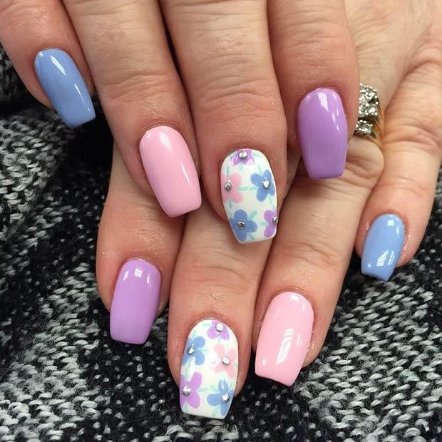 Flower Nail Art Designs Fabulous