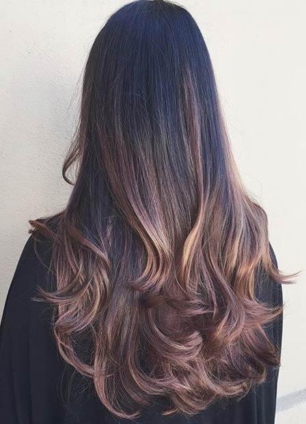 Chocolate Brown Hair Light Brown Highlights
