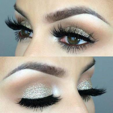 31 Beautiful Wedding Makeup Looks for Brides   Page 2 of 3   StayGlam Sparkly Wedding Eye Makeup Look for Brides