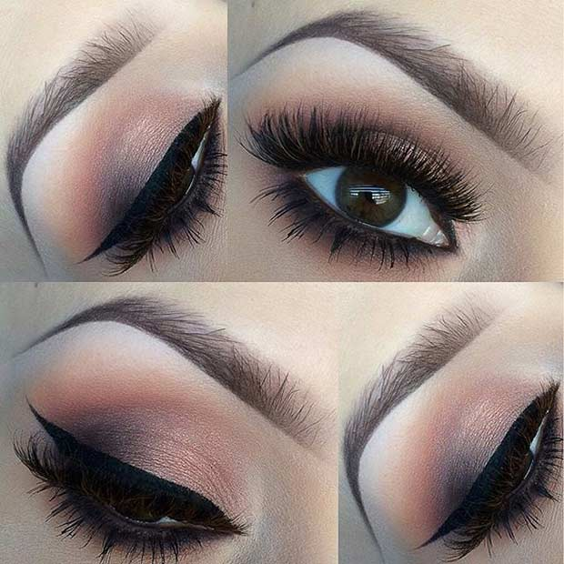 Soft Brown Smokey Wedding Makeup Look