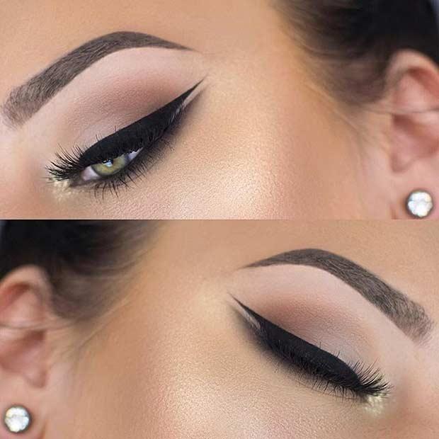 Wedding Cat Eye Makeup Look