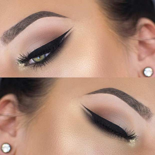 Wedding Cat Eye Makeup Look