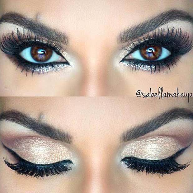 Champagne Wedding Eye Makeup Look
