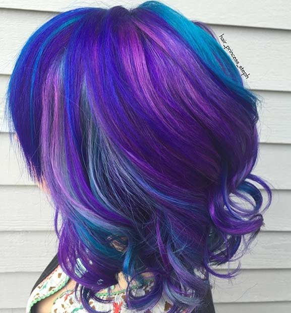 25 Amazing Blue And Purple Hair Looks Page 2 Of 3 StayGlam
