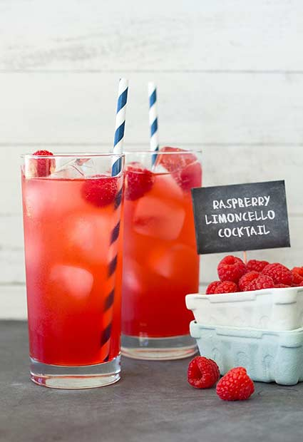 Raspberry Limoncello Summer Cocktail