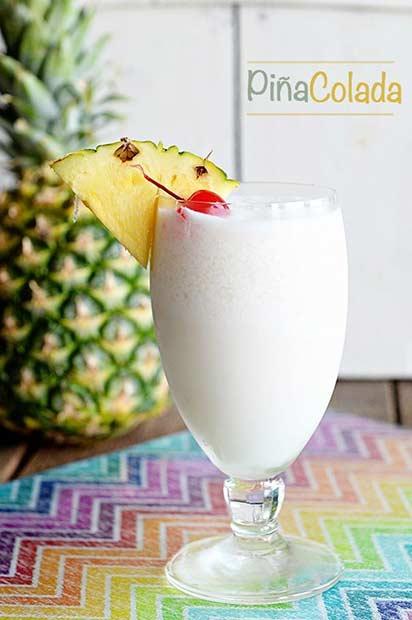 Pina Colada Sweet Summer Drink