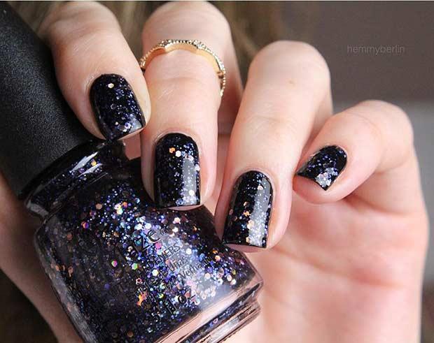 25 Edgy Black Nail Designs , crazyforus
