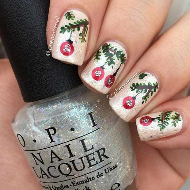 29 Easy Christmas and Winter Nail Ideas - crazyforus