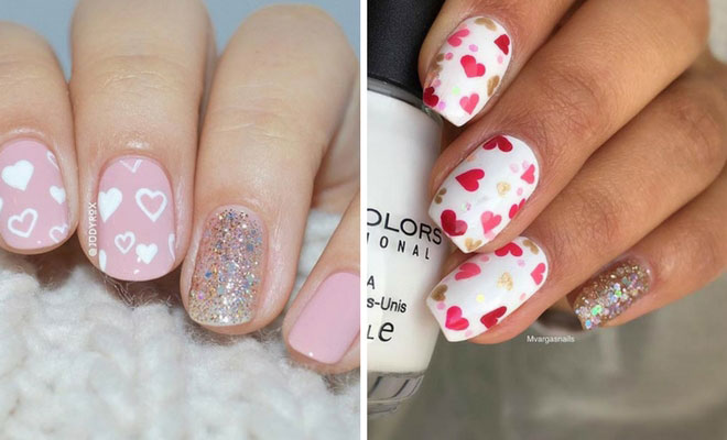 27 Pretty Nail Art Designs For Valentines Day StayGlam