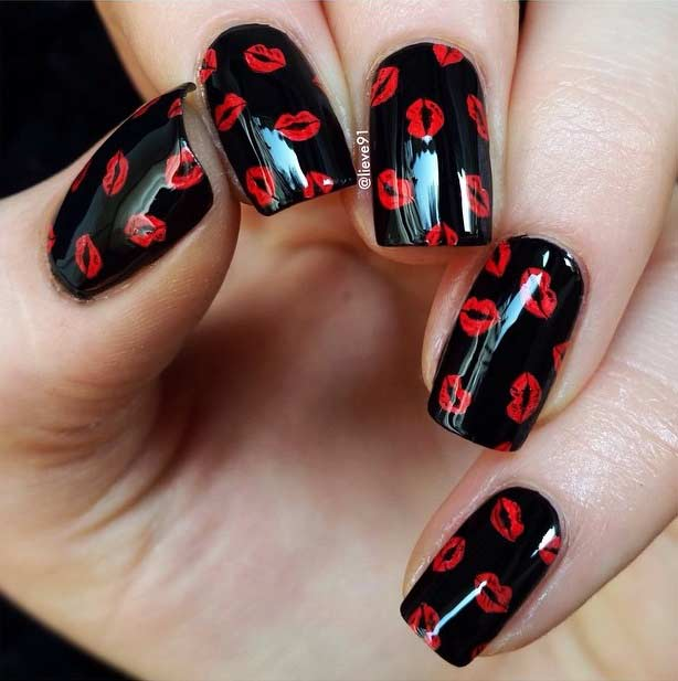 27 Pretty Nail Art Designs for Valentine\'s Day - crazyforus